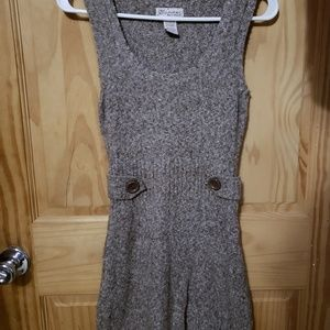 🌸 Glimmer Brown Knitted Sleeveless Dress